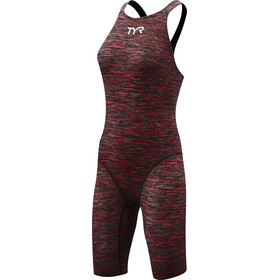 TYR Thresher Baja Open rug Swimsuit Dames, rood